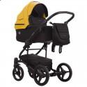 Детская коляска 2 в 1 Bebetto Torino 09 желтая, черная рама