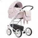 Детская коляска 2 в 1 Bebetto Torino 10 розовая, белая рама