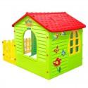 Детский домик Mochtoys 10839 садовый с забором