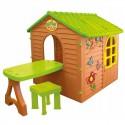 Детский домик Mochtoys 11045 со столом и табуретом
