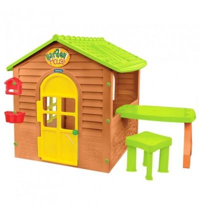 Детский домик Mochtoys 12240 со столиком и табуретом
