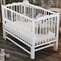 Детская кроватка Дубик-М Веселка с маятником белая