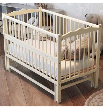 Детская кроватка Дубик-М Веселка с маятником слоновая кость