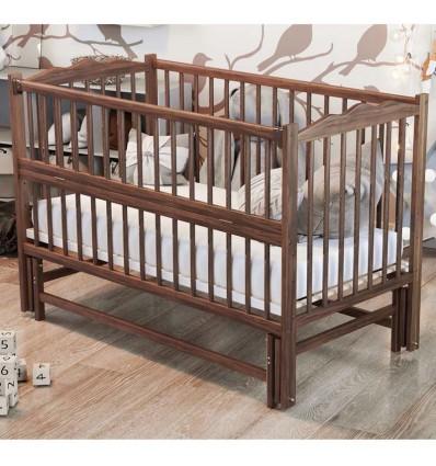 Детская кроватка Дубик-М Веселка с маятником орех