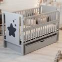 Детская кроватка Дубик-М Звездочка серая