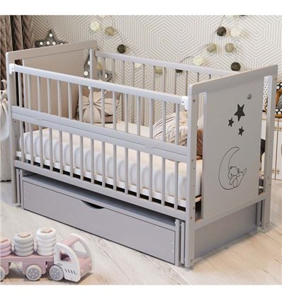 Детская кроватка Дубик-М Мишка серая