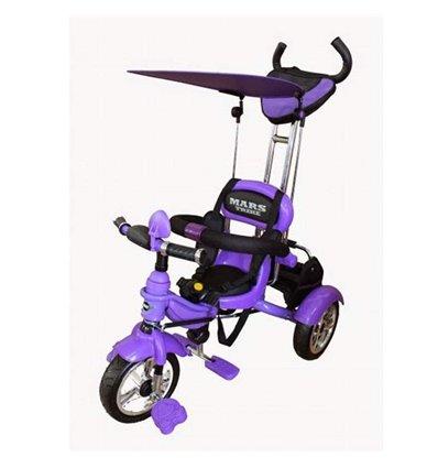 Велосипед трехколесный Mars Trike Air фиолетовый, надувные колеса