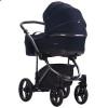 Детская коляска 2 в 1 Bebetto Bresso Premium Dark 04 синяя