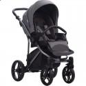 Детская коляска 2 в 1 Bebetto Bresso Premium Dark 05 серая