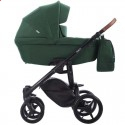 Детская коляска 2 в 1 Bebetto Luca 16 зеленая, черная рама