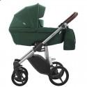 Детская коляска 2 в 1 Bebetto Luca 16 зеленая, серая рама