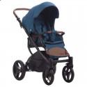 Детская коляска 2 в 1 Bebetto Luca 18 синяя, черная рама