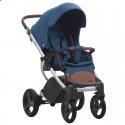 Детская коляска 2 в 1 Bebetto Luca 18 синяя, серая рама