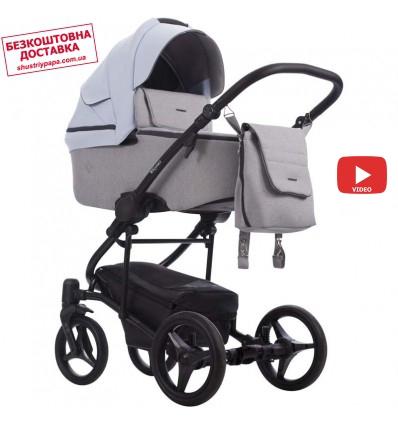 Детская коляска 2 в 1 Bebetto Torino 12 голубая, черная рама