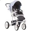 Детская коляска 2 в 1 Bebetto Torino 12 голубая, белая рама