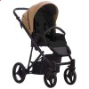 Детская коляска 2 в 1 Bebetto Flavio Pro 03 коричневая эко-кожа