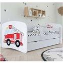 Детская кровать Baby Dreams - Пожарный автомобиль белая