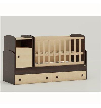 Детская кроватка-трансформер Oris Marica комбинированный венге