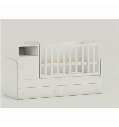 Детская кроватка-трансформер Oris Marica белый