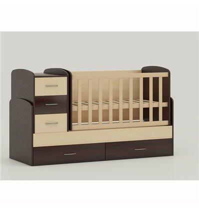 Детская кроватка-трансформер Oris Maya комбинированный венге