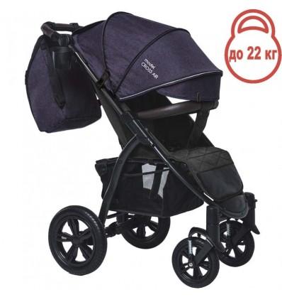 Детская прогулочная коляска BubaGo Cross Air фиолетовая