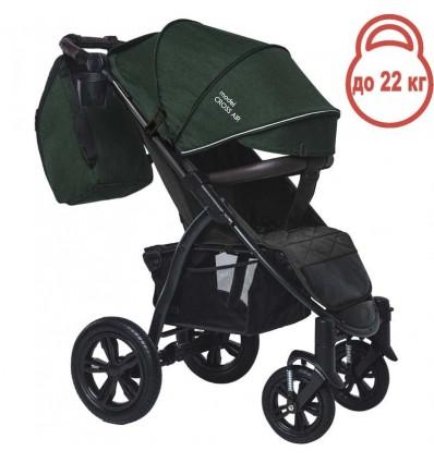 Детская прогулочная коляска BubaGo Cross Air зеленая