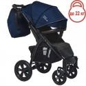 Детская прогулочная коляска BubaGo Cross Air синяя