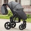 Детская прогулочная коляска BubaGo Cross Air серая