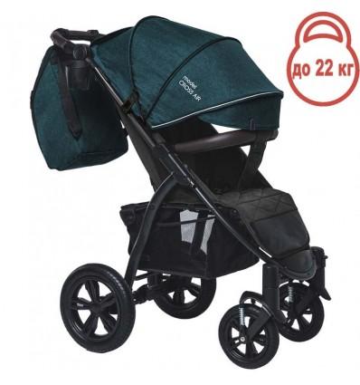 Детская прогулочная коляска BubaGo Cross Air бирюзовая