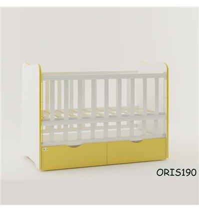 Кроватка для новорожденного Oris Fiona бело-желтый