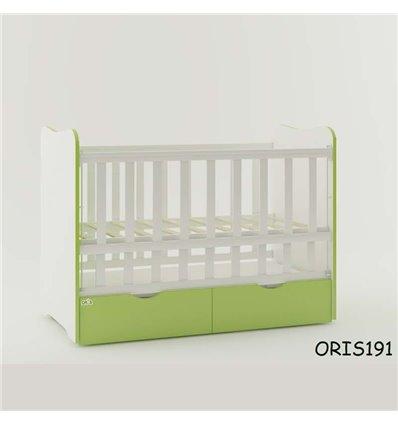 Кроватка для новорожденного Oris Fiona бело-зеленый