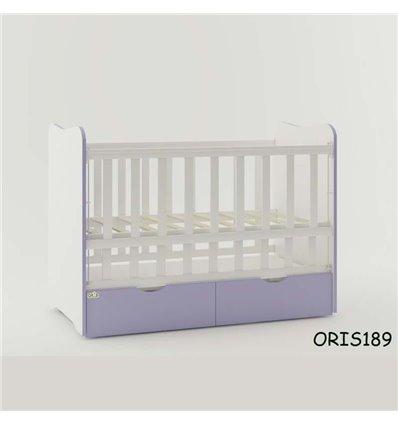 Кроватка для новорожденного Oris Fiona бело-лиловый