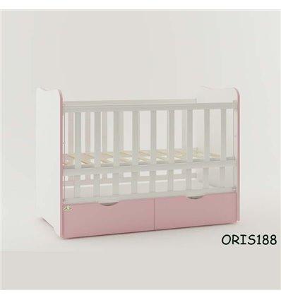 Кроватка для новорожденного Oris Fiona бело-розовый