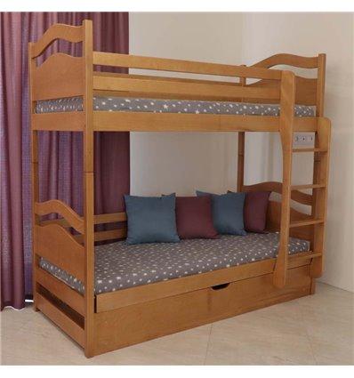 Двухъярусная кровать с подъемным механизмом Дримка Винни Пух