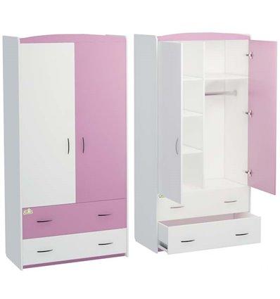Шкаф Oris Classik Maya бело-розовый