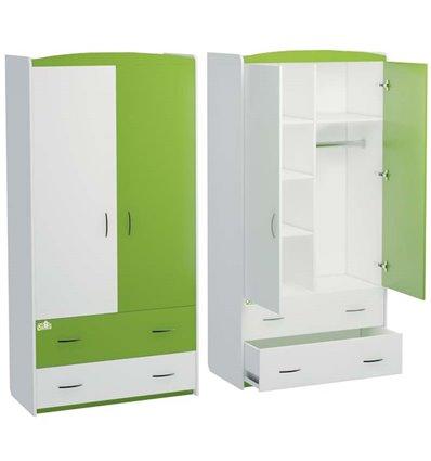 Шкаф Oris Classik Maya бело-зеленый