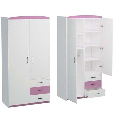 Шкаф Oris Modern Maya бело-розовый