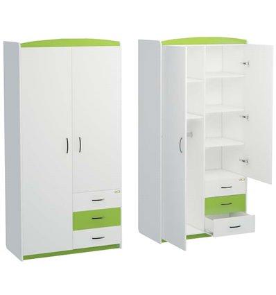 Шкаф Oris Modern Maya бело-зеленый