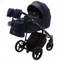 Детская коляска 2 в 1 Adamex Gallo Thermo GA-13 Blue Orient