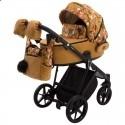 Детская коляска 2 в 1 Adamex Porto Flowers-3