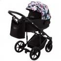 Детская коляска 2 в 1 Adamex Porto Light Flowers-10