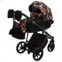 Детская коляска 2 в 1 Adamex Porto Flowers