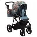 Детская коляска 2 в 1 Adamex Porto Flowers-4