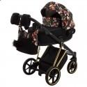 Детская коляска 2 в 1 Adamex Porto Special Edition Gold Flowers-1