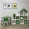 Стеллаж детский Scandic Домик на 9 ячеек, 3 ящика