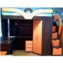 Кровать-чердак с рабочей зоной Мерабель КЛ6-5