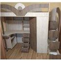 Кровать-чердак с рабочей зоной Мерабель КЛ6-13 Эко