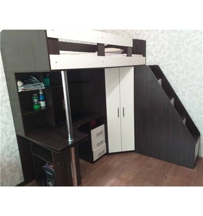 Кровать-чердак с рабочей зоной Мерабель КЛ6-15