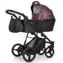 Детская коляска 3 в 1 Verdi Dynamic VD-10L черная с бордовым экокожа
