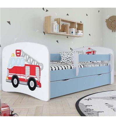 Детская кровать Kocot Kids Baby Dreams - Пожарная машина голубая